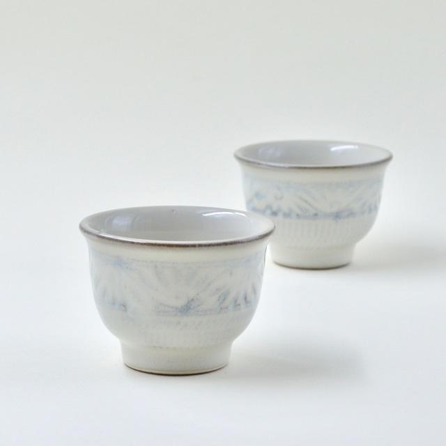 緑釉唐草文カップ&ソーサー