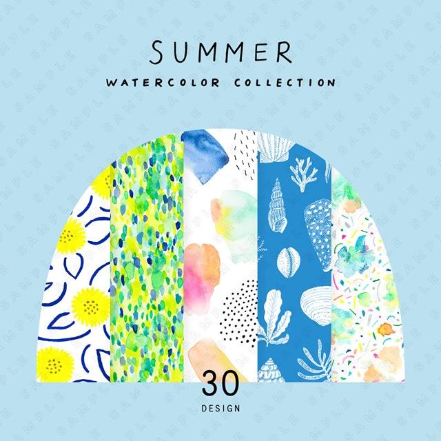 夏の水彩素材集 Summer Watercolor Collection
