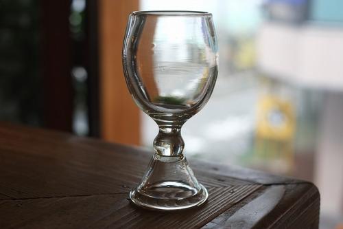 ◆森永豊 **モリナ透明硝子工房** <吹き硝子>・◆◆◆ブロウフットワイングラス◆◆◆