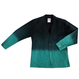 作務ジャケット 緑青