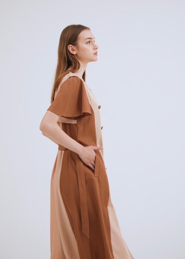TWILL MIX TRENCH DRESS