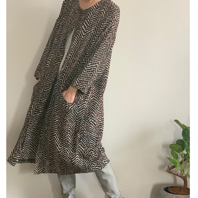 Long vintage cardigan jacket