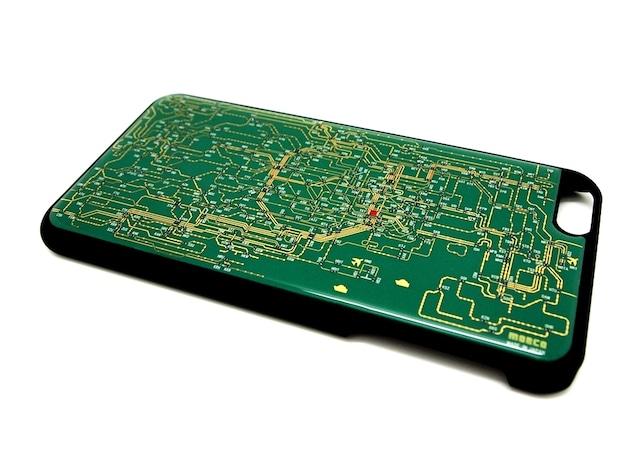 東京回路線図 iPhone6/6s Plus ケース 緑【LEDは光りません】【東京回路線図A5クリアファイルをプレゼント】