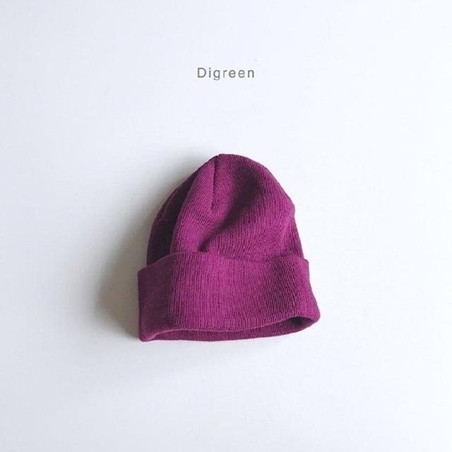 ベーシックコットン帽 [plum]