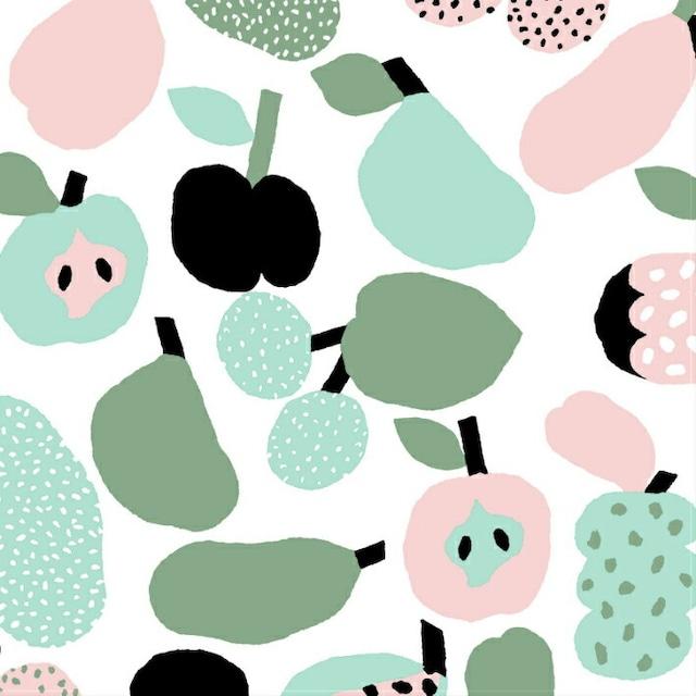 北欧 kauniste(カウニステ) ファブリック Tutti Frutti  ライトグリーン