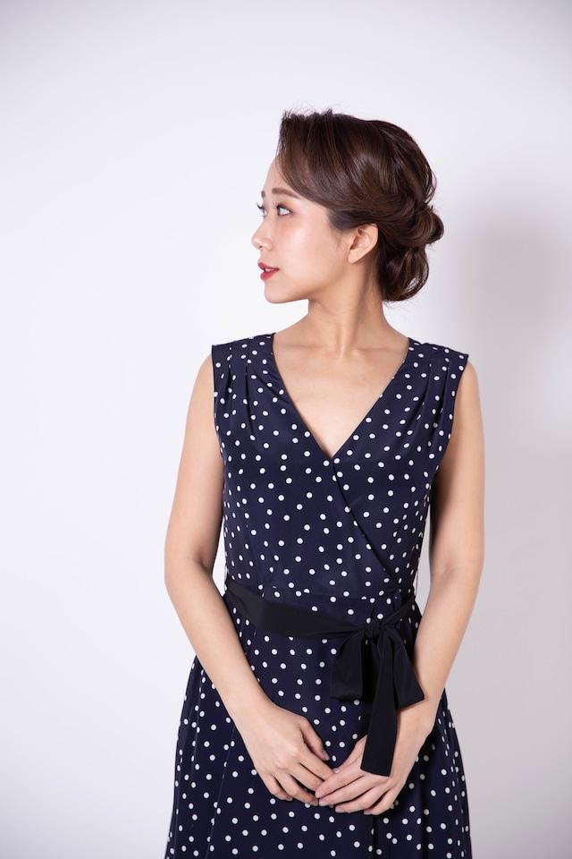 cache-coeur dot wrap dress