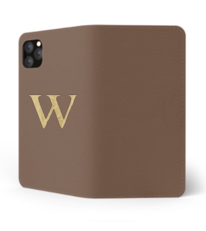 iPhone Premium Smooth Leather Case (Chocolate) : Book Cover