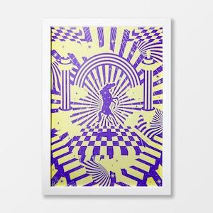 Ritual Of The Horse A3 Risograph Print