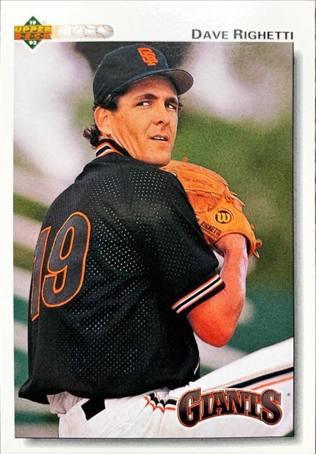 MLBカード 92UPPERDECK Dave Righetti #171 GIANTS