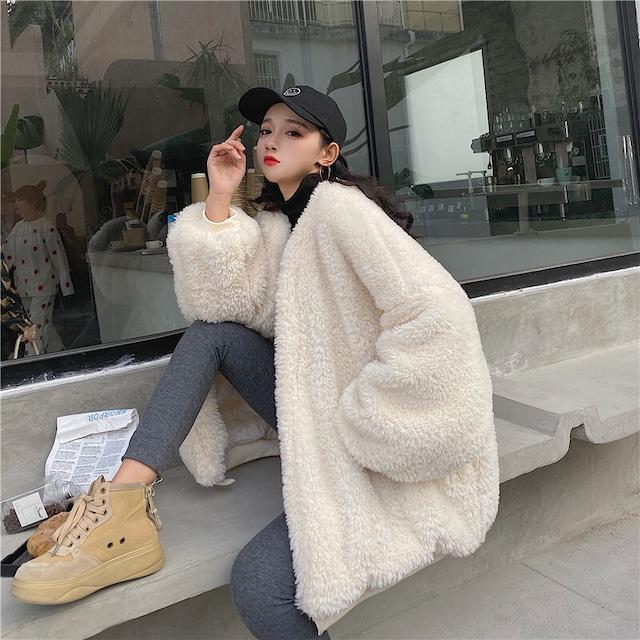 【アウター】模擬ウールファッション韓国系コート 42920187