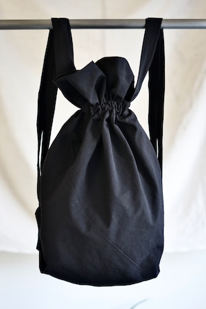 <SOLD OUT>JAN JAN VAN ESSCHE - BAG#20 (BLACK COARSE GRAINED COTTON / LINEN)