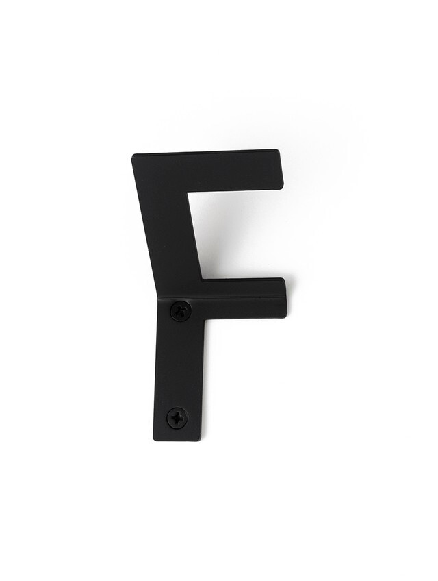 LETTER HOOK  F フック 壁掛け サイン 英文字 アルファベット