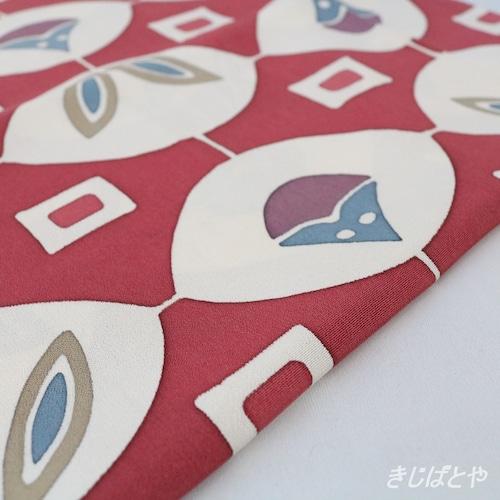 正絹 紅鶸色のアンティークの羽織より はぎれ