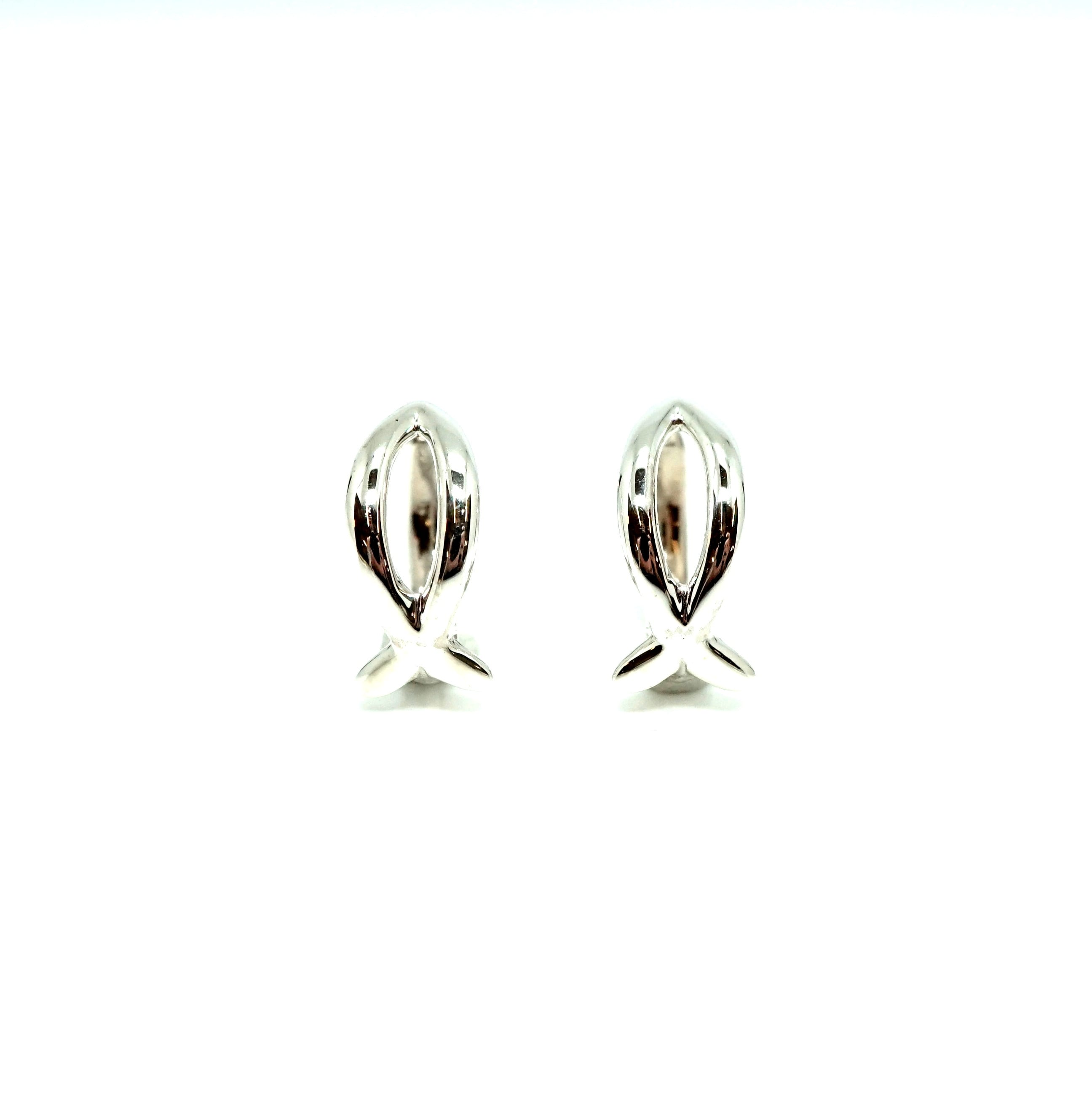 Fish symbol earings - SVペア