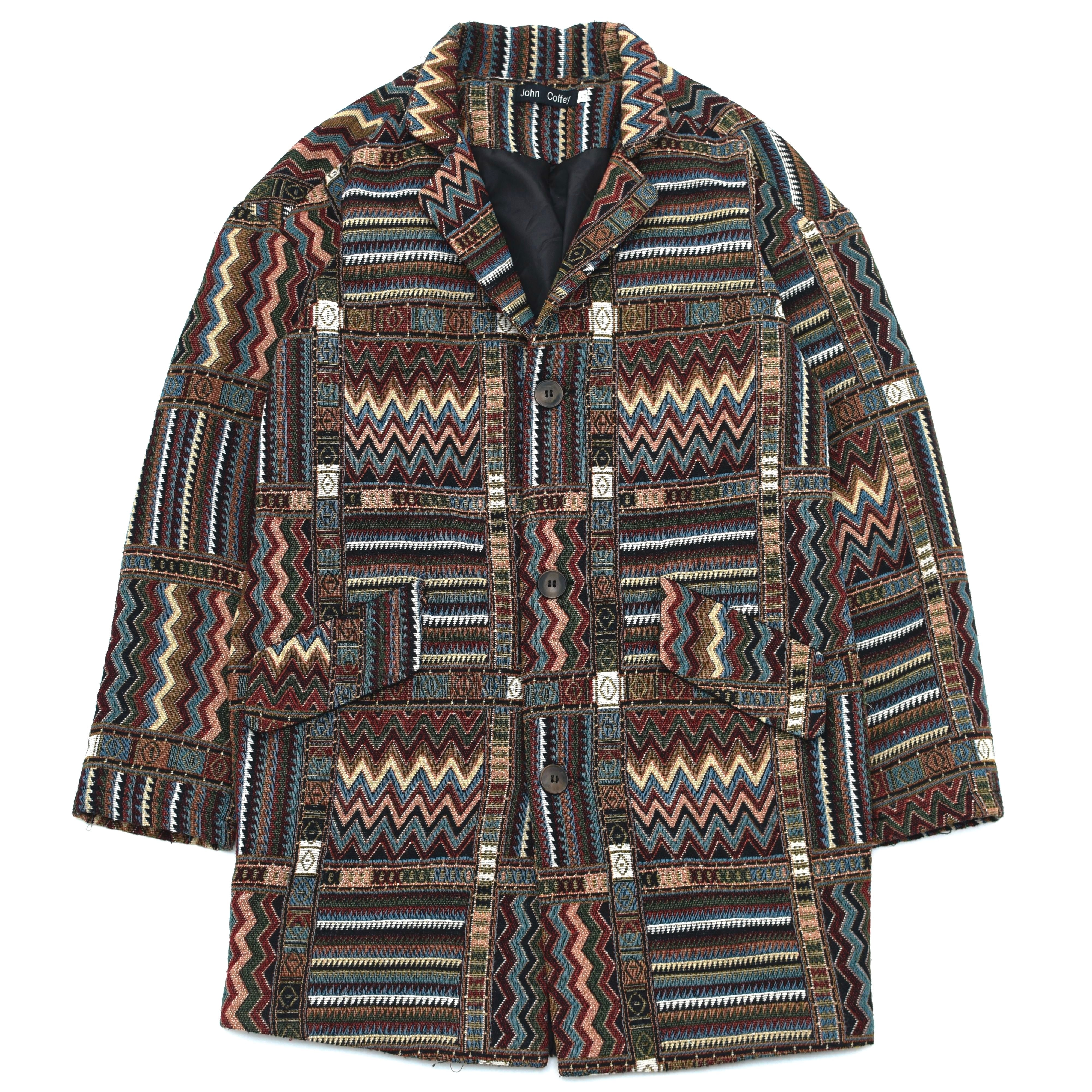 Native pattern gobelin jacket