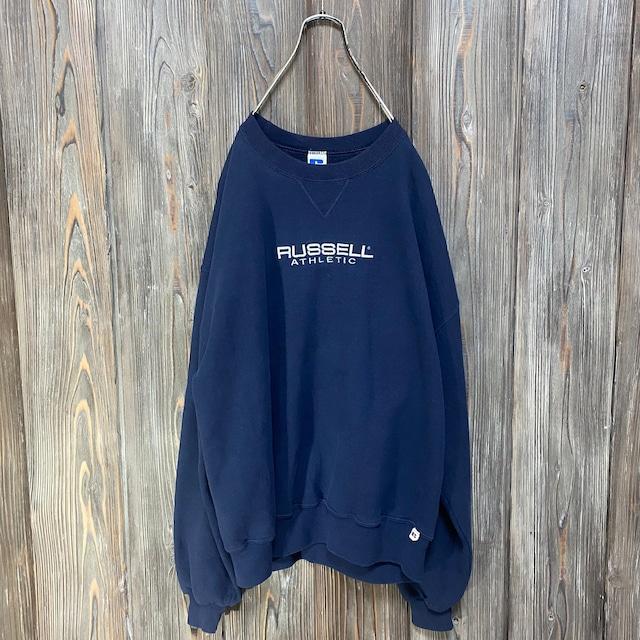 [used]RUSSELL big design sweat