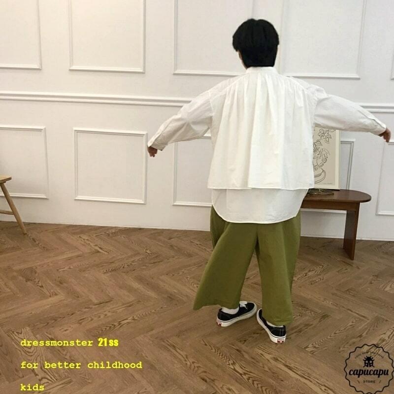 «sold out» dressmonster shirring shirt 2colors シャーリングシャツ