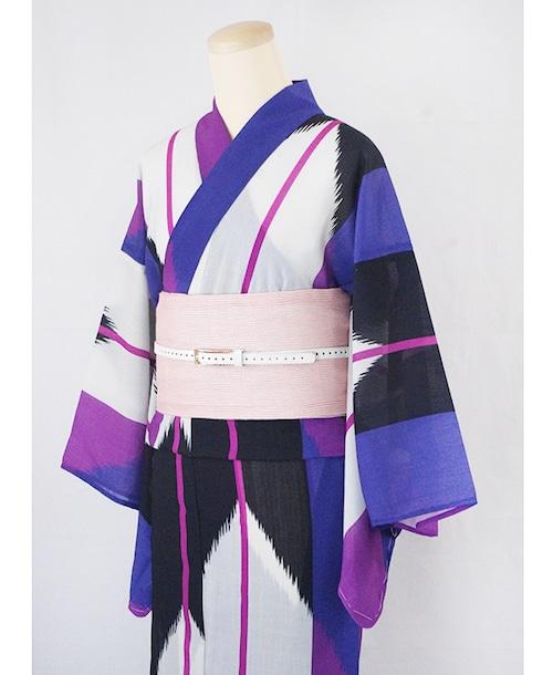 浴衣【矢羽根】紫/加花の大人ゆかた