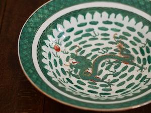 『Green dragon/ドラゴンの皿/2種』粤東磁廠/香港