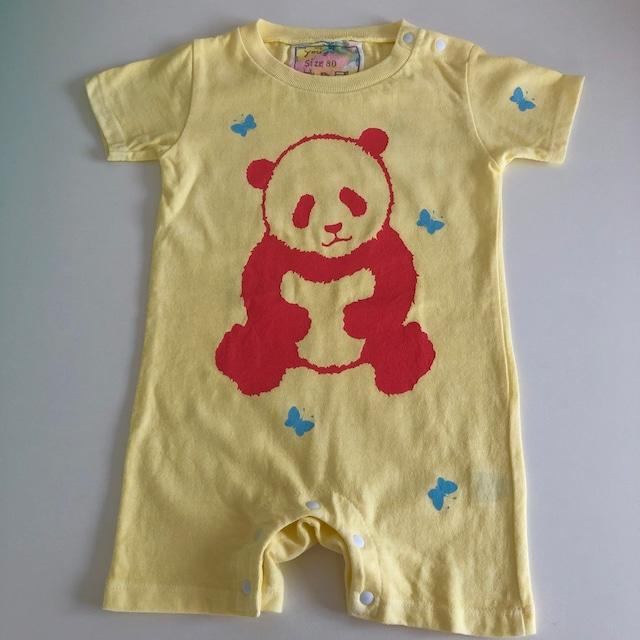 babyロンパース80cm「パンダとちょうちょ」R80-20927-3