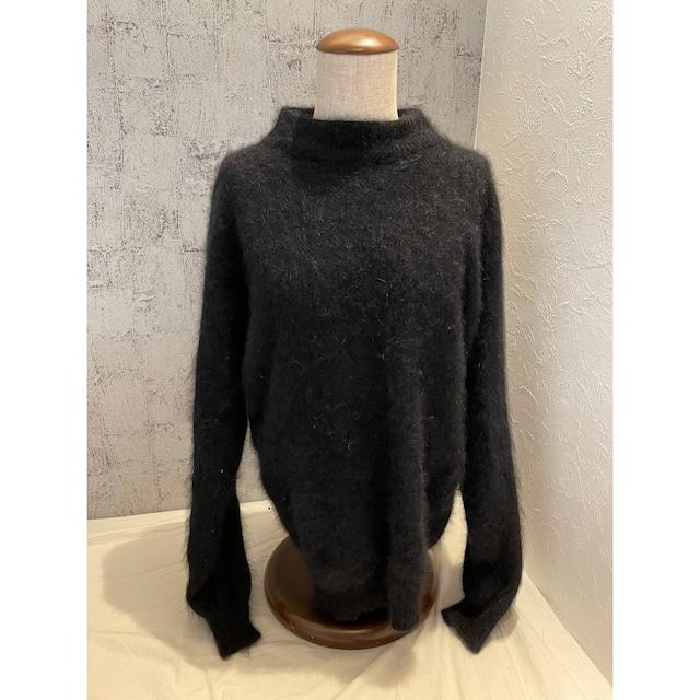 BLACK angora knit