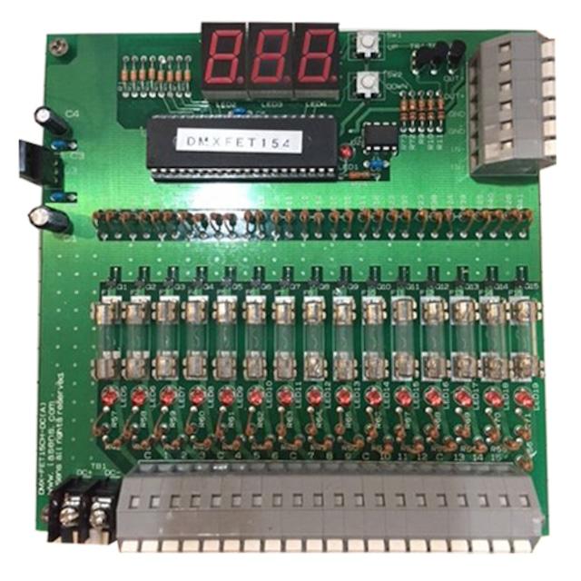 DMX対応 DC9~12v 15ch 調光器/基板
