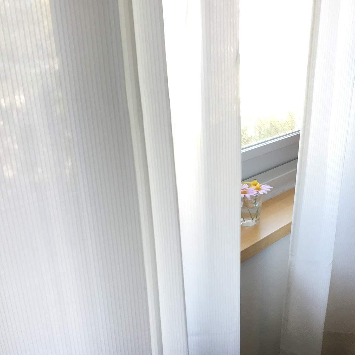トリコ/アイボリー 遮像レースカーテン 遮熱・保温 UVカット 涼しや 形状記憶加工 ウォッシャブル カーテン 2枚入 / Aフック サイズ(幅×丈):100×108cm ksol-001-100-108