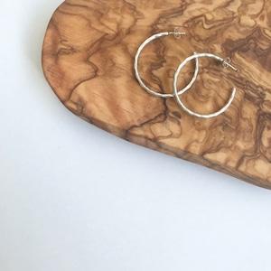 Indian Jewelry Navajo Hoop Earrings flat