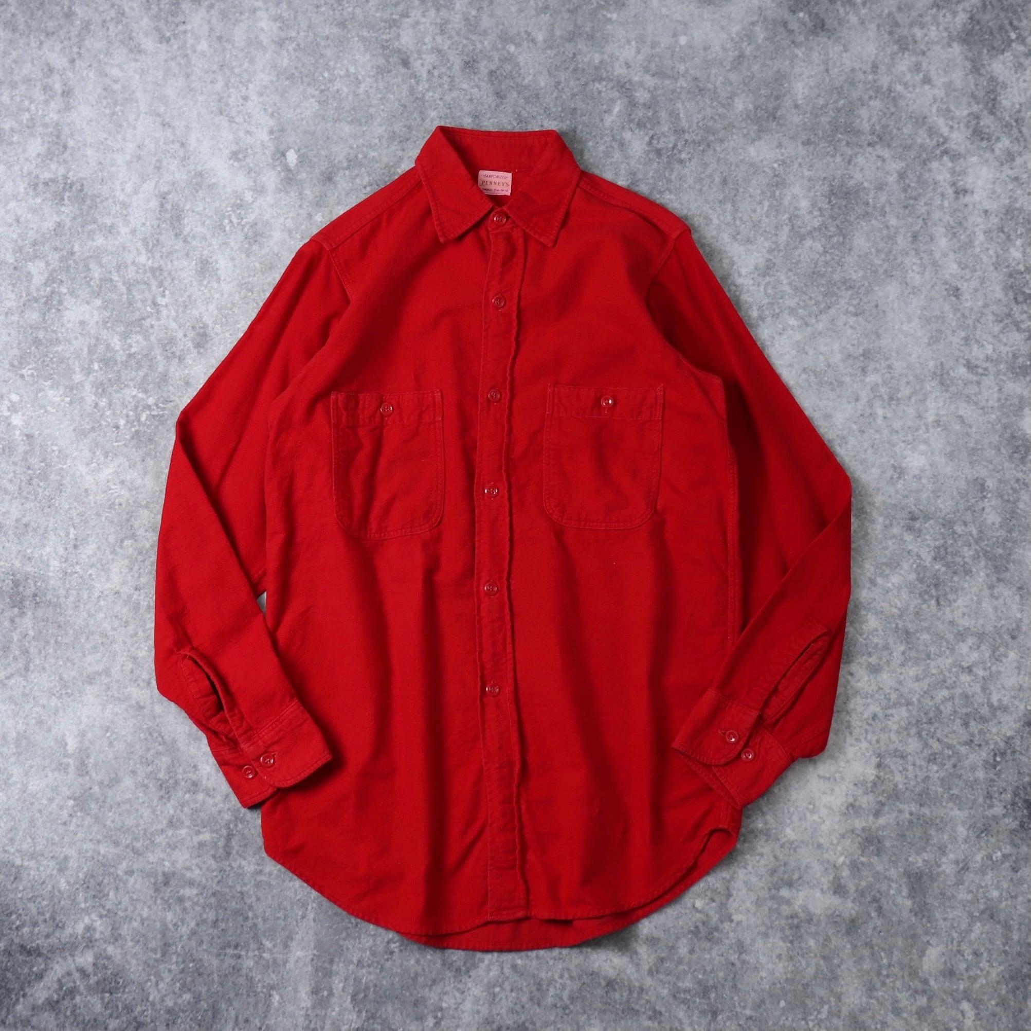 50's〜60's Penny's Flannel shirt 50年代〜60年代 ヴィンテージ  ペニーズ ネルシャツ コットンネル フランネルシャツ 古着 A562