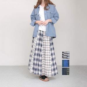 Bluene(ブルーネ) Nel Check Long Skirt 2021春物新作