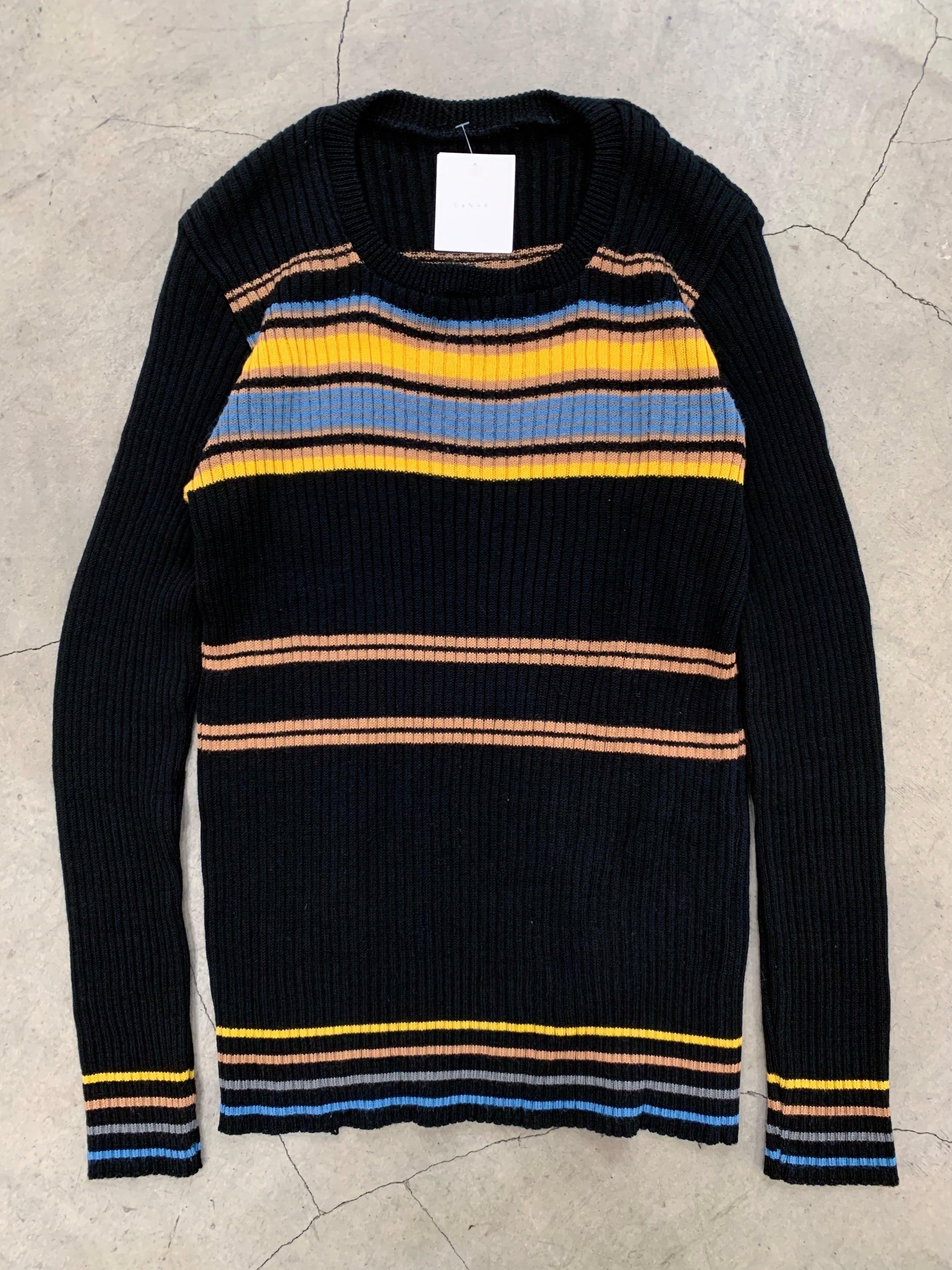 vintage stripe knit tops