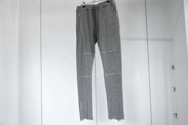 ASKYY / ZIP SWEAT PANTS / GRY