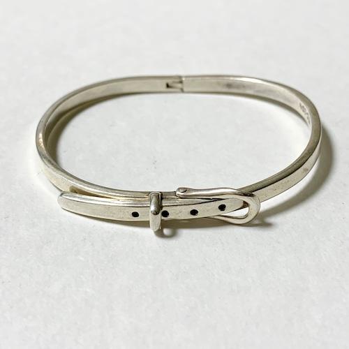 Vintage 925 Silver Belt Bracelet Made In Mexico