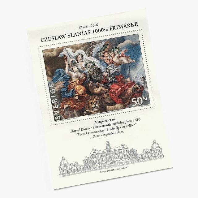 切手シート(未使用)「スラニア1,000作記念切手(2000年発行)」
