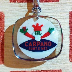 イタリア CARPANO[カルパノ] 果実酒ブランドキャラクター広告ノベルティ ブルボンキーホルダー