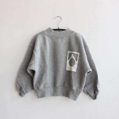 《main story 2021AW》Funnel Sweatshirt / Grey Marl