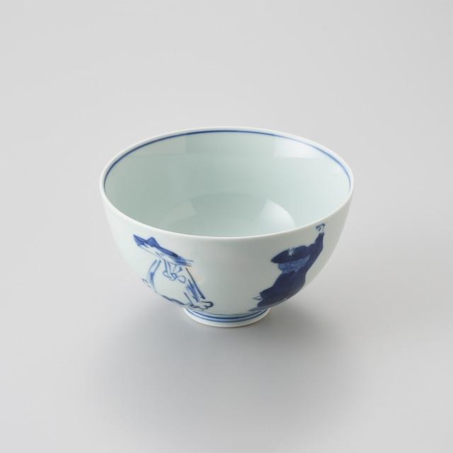 "【青花】""五人異人"" 5寸深丼"