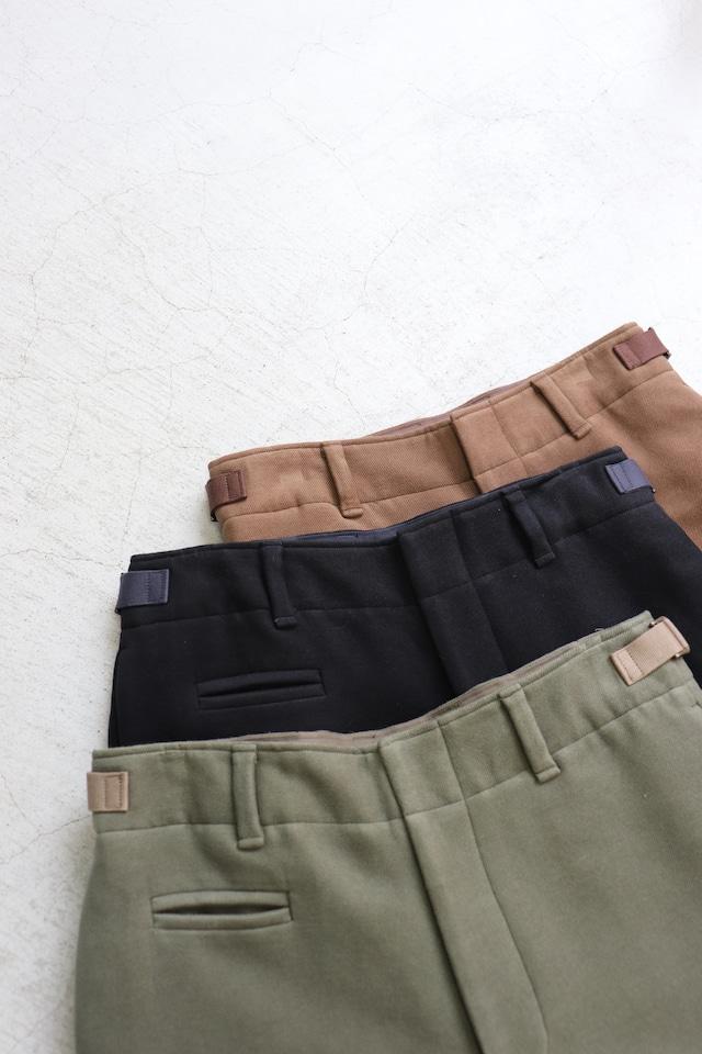 kemit【ケミット】Cotton moleskin Wide straight Khaki green/Navy/Brown