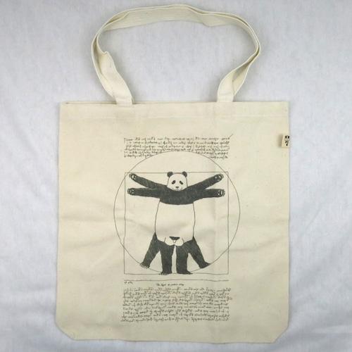 レオナルド・ダ・ヴィンチの人体の調和?「パンダウィトルウィウス」のトートバッグ