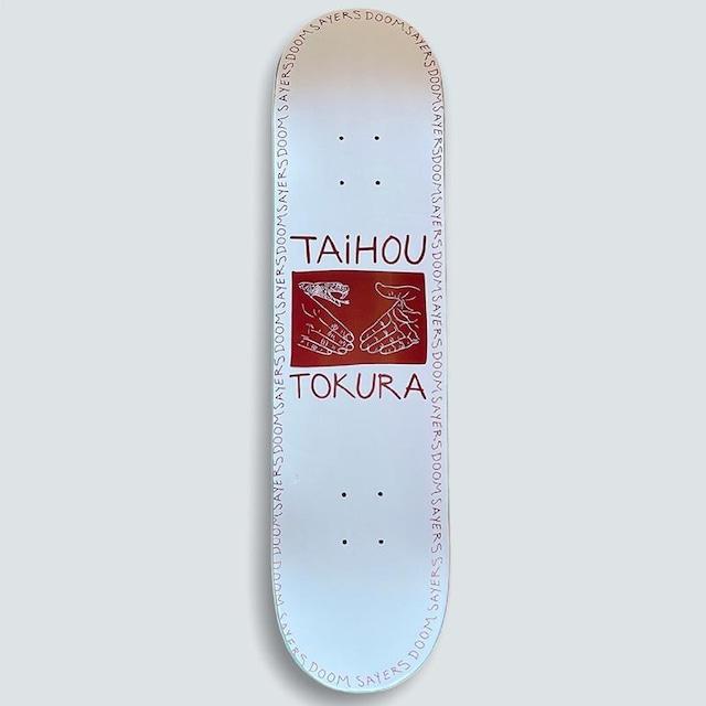 "DOOM SAYERS TAIHOU TOKURA ""T4"" PRO SNAKE SHAKE SKATEBOARD 8.0"