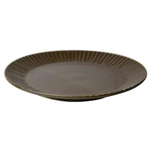 益子焼 つかもと窯 「 SHINOGI 」 プレート 皿 S 約17cm ブラウン TS-04