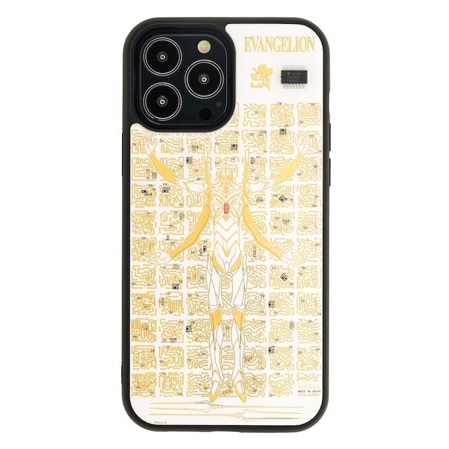 FLASH EVA13 基板アート iPhone 13 Pro Maxケース 白【東京回路線図A5クリアファイルをプレゼント】