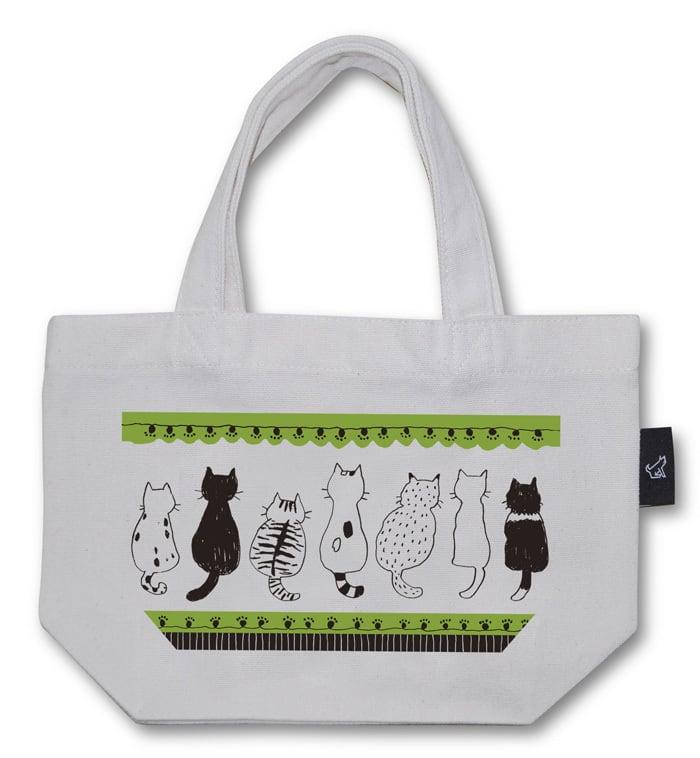 後ろ猫 トートバッグ (Sサイズ)品番:nii-s-01