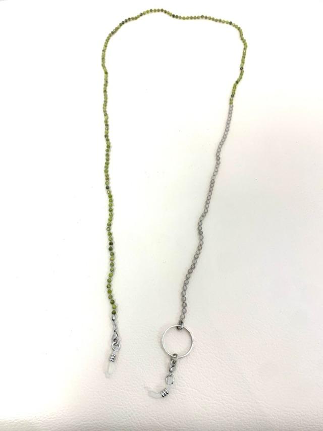 【 Atelier Mallet】天然石オールノットグラスコード3mm/MGRGY