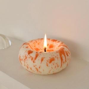 press candle (orange) / プレス キャンドル アロマ オブジェ 韓国 インテリア 雑貨