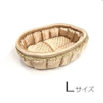 ふーじこちゃんママ手作り ぽんぽんベッド(サテンゴールド)Lサイズ【PB18-063L】