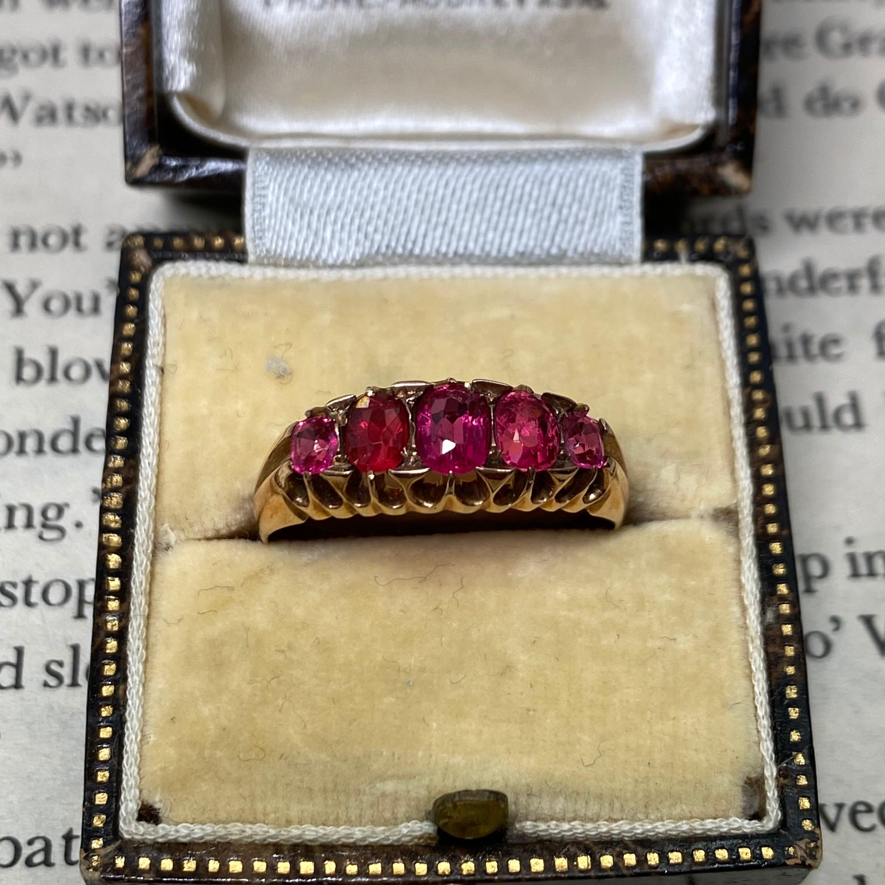 イギリス 1908年 ❤︎ラブリー❤︎アンティークリング k9 ローズゴールド 指輪