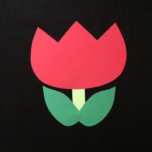 チューリップ(赤)の壁面装飾