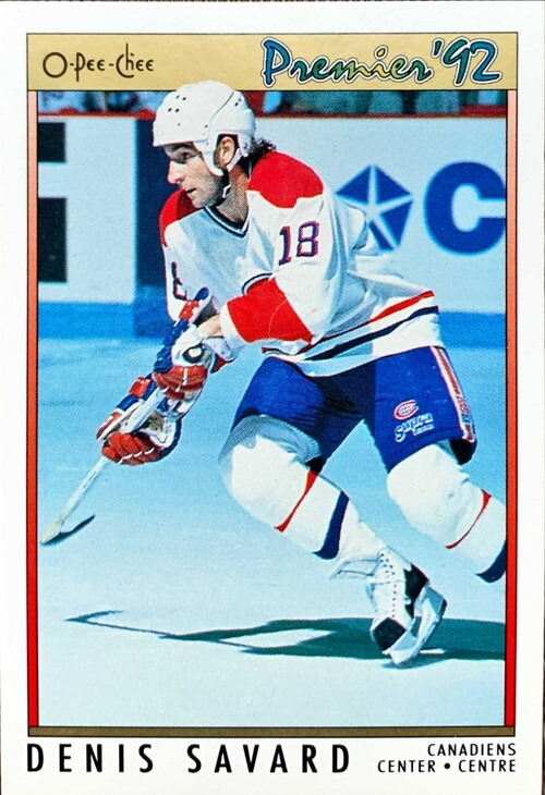NHLカード 91-92 O-PEE-CHEE DENIS SAVARD #071 CANADIENS