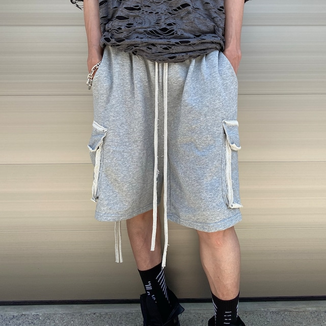 【MENS - 1 size】WIDE SWEAT SHORTS / Grey